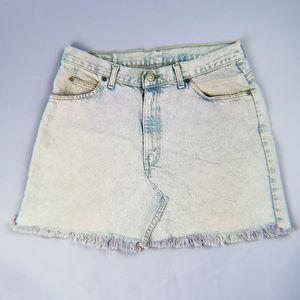 90s Vintage Lavendar Summer Jean Skirt